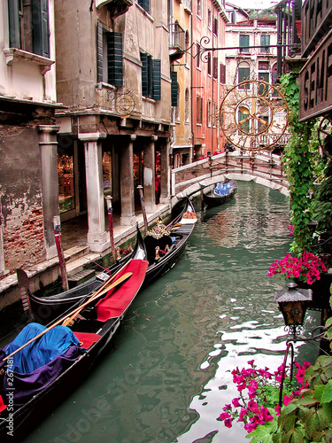 Poster Venise canal scene in venice italy