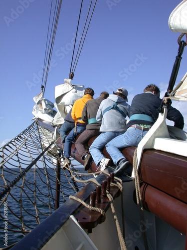 Cuadros en Lienzo  windjammer: segel packen