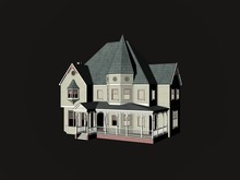 Victorian House - Isolated