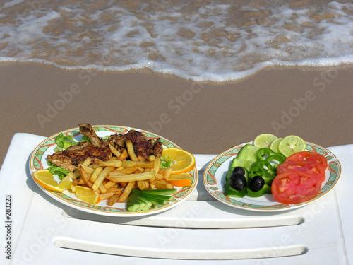 food on the beach Canvas Print