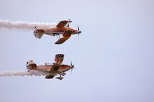 Bi-planes Flying As Mirror Image