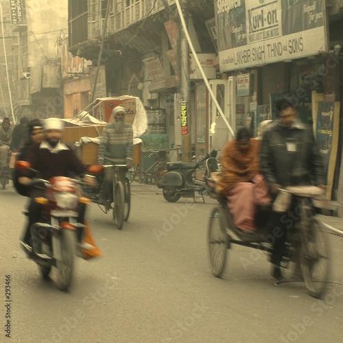 Stickers pour porte Delhi market-place