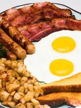 Complete Egg Breakfast (close Portrait View)