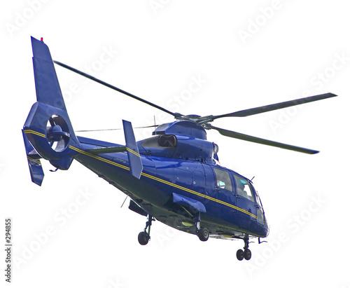 Türaufkleber Hubschrauber isolated blue helicopter
