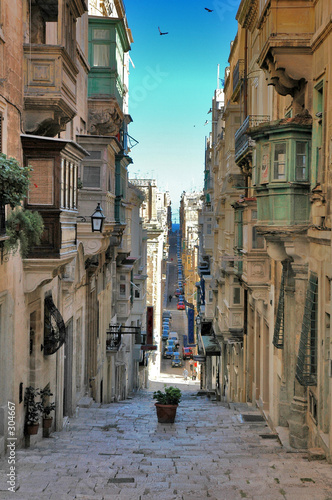 long view of maltese street