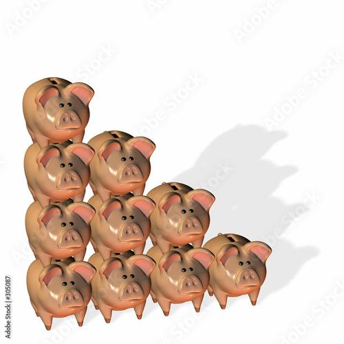 Poster Jeunes enfants piggy bank stack