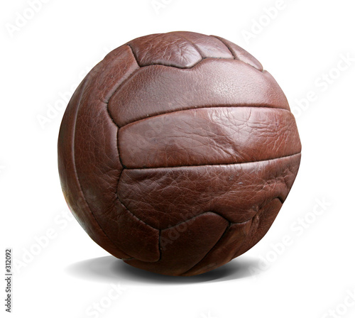 Photo vintage football isolated w. path
