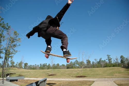 Photo high flying teen