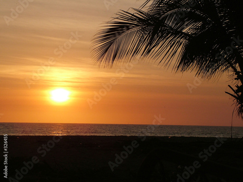 Fotobehang Zee zonsondergang sun set pacifico