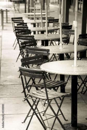 Photo sur Toile Drawn Street cafe cafe