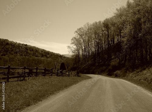Fotobehang Draw country road