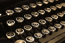 Typewriter Keys In Sepia