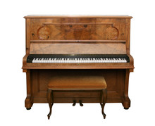 Antique Piano With Path