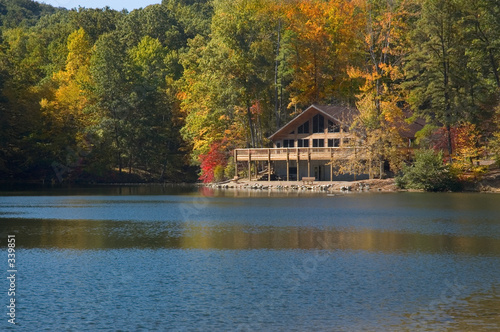 Fotografia, Obraz lake lodge