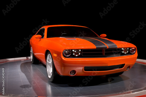 Deurstickers Snelle auto s orange power