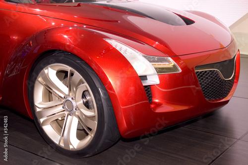 Deurstickers Snelle auto s futuristic car's front end