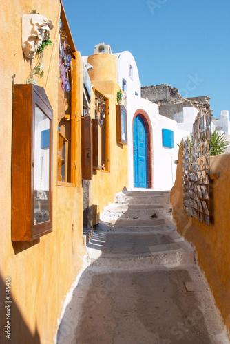 street in oia santorini greece