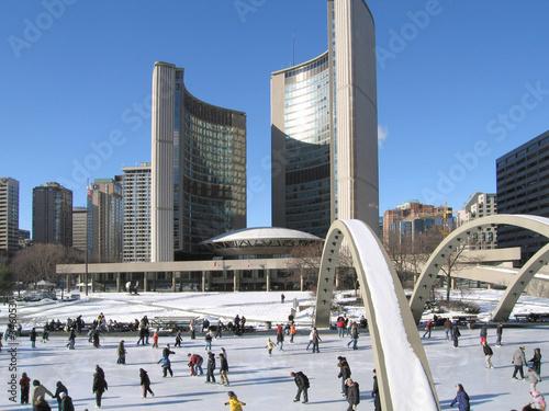In de dag Toronto toronto city hall