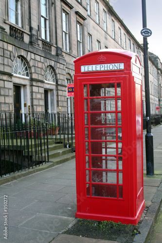 Garden Poster London red telephone box