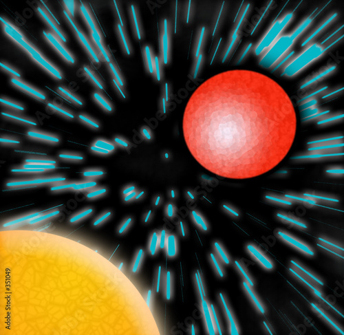 sun and red planet zoom Canvas Print