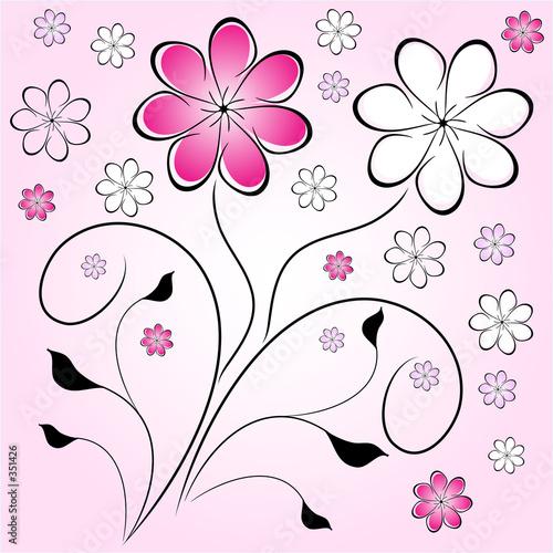 Foto-Rollo - retro flowers (von Kirsty Pargeter)