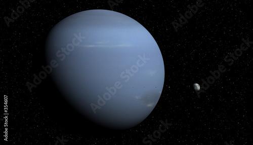 Obraz na plátně neptune et ses lunes