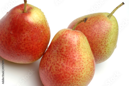 forelle pears on white Canvas Print