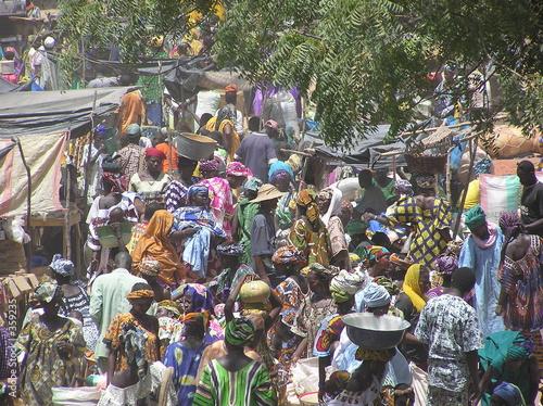 Foto auf AluDibond Afrika djenne market