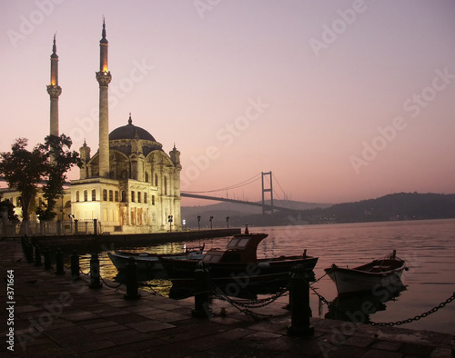 Foto-Kassettenrollo premium - the buyuk mecidiye mosque (von Windowseat)