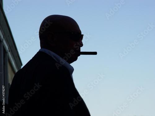 Fotografie, Tablou  silhouette of a mafia man