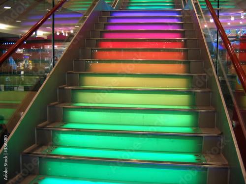 Photo Stands Stairs rainbow stairs
