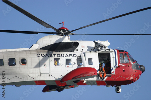 Poster Helicopter coastguard rescue 2