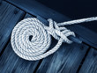 canvas print picture - boat rope