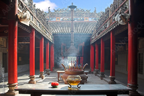 Foto op Plexiglas Temple smoke-filled temple