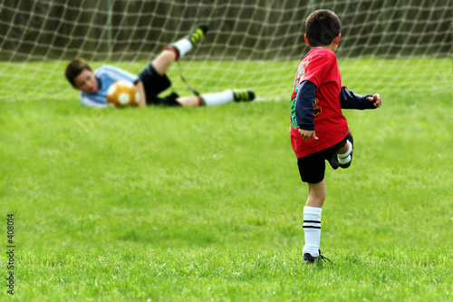 Photo  boys playing soccer