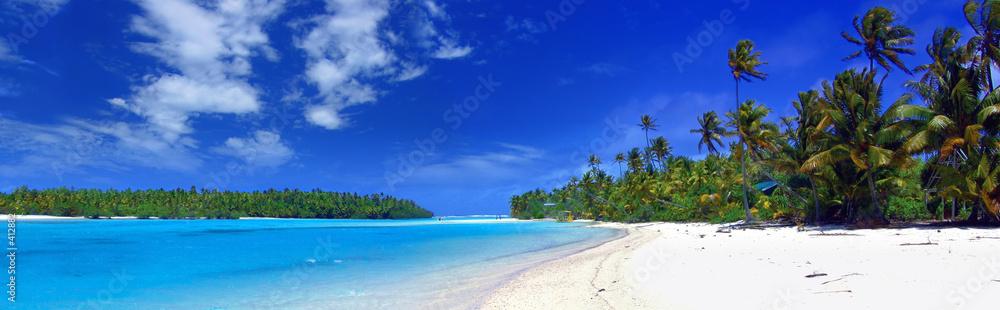 Foto-Doppelrollo - panoramic lagoon
