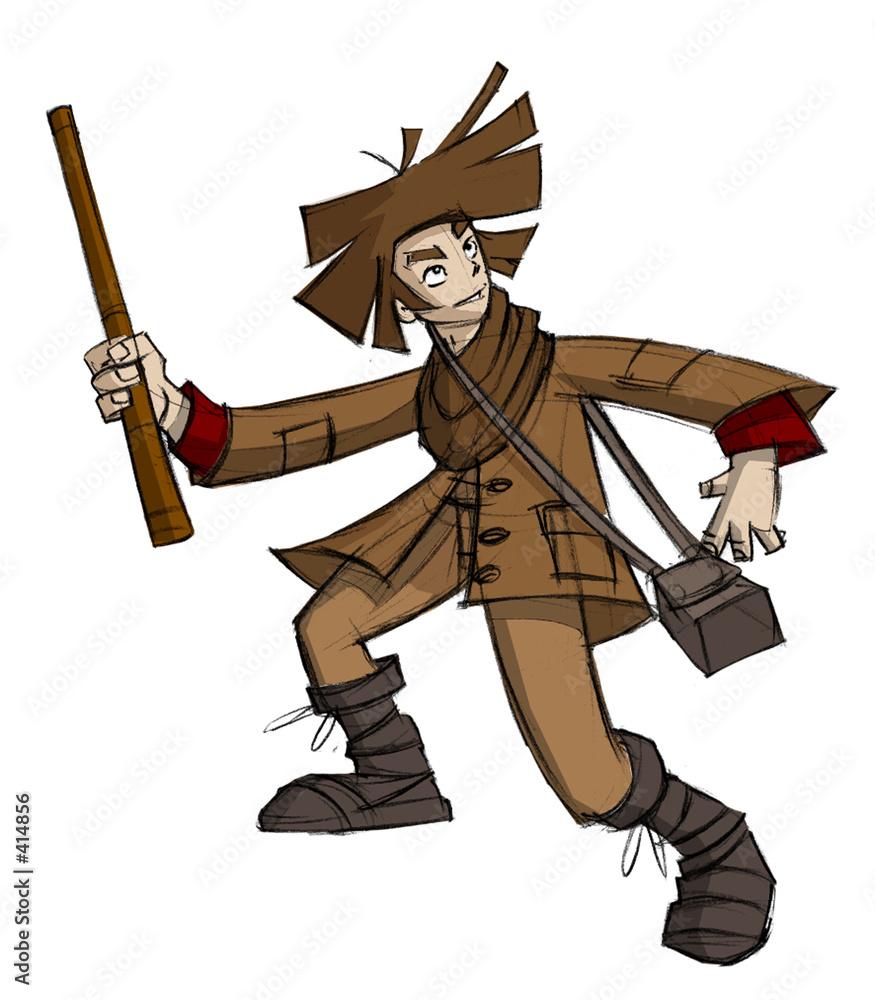 Foto-Plissee - medieval squire