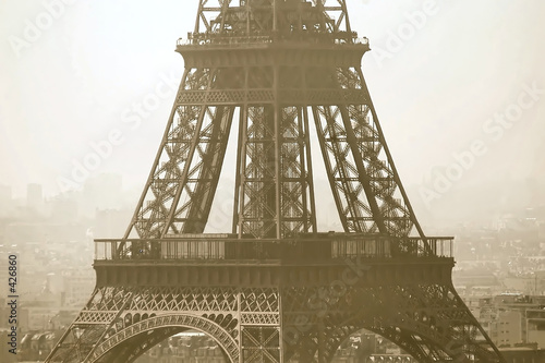 eiffel tower close-up view