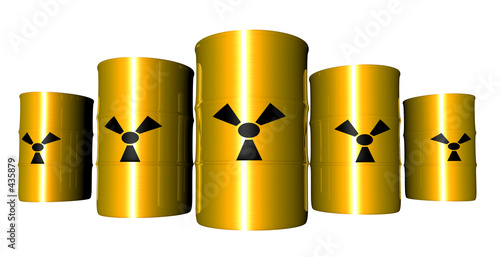 radioactive barrels - anisotropic Canvas Print