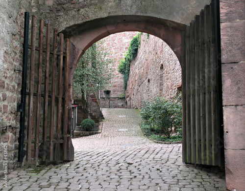 brick courtyard arch