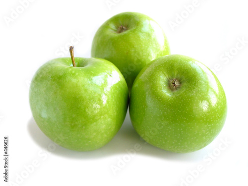 Photographie green apple white