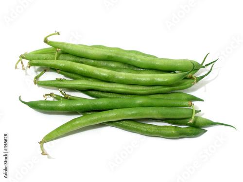 Fotografía  green beans on white