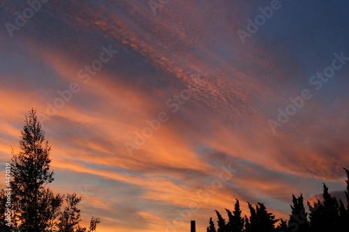 Fotografie, Obraz  altostratus au coucher du soleil