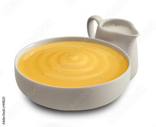 Fotografía cream for patisserie with milk