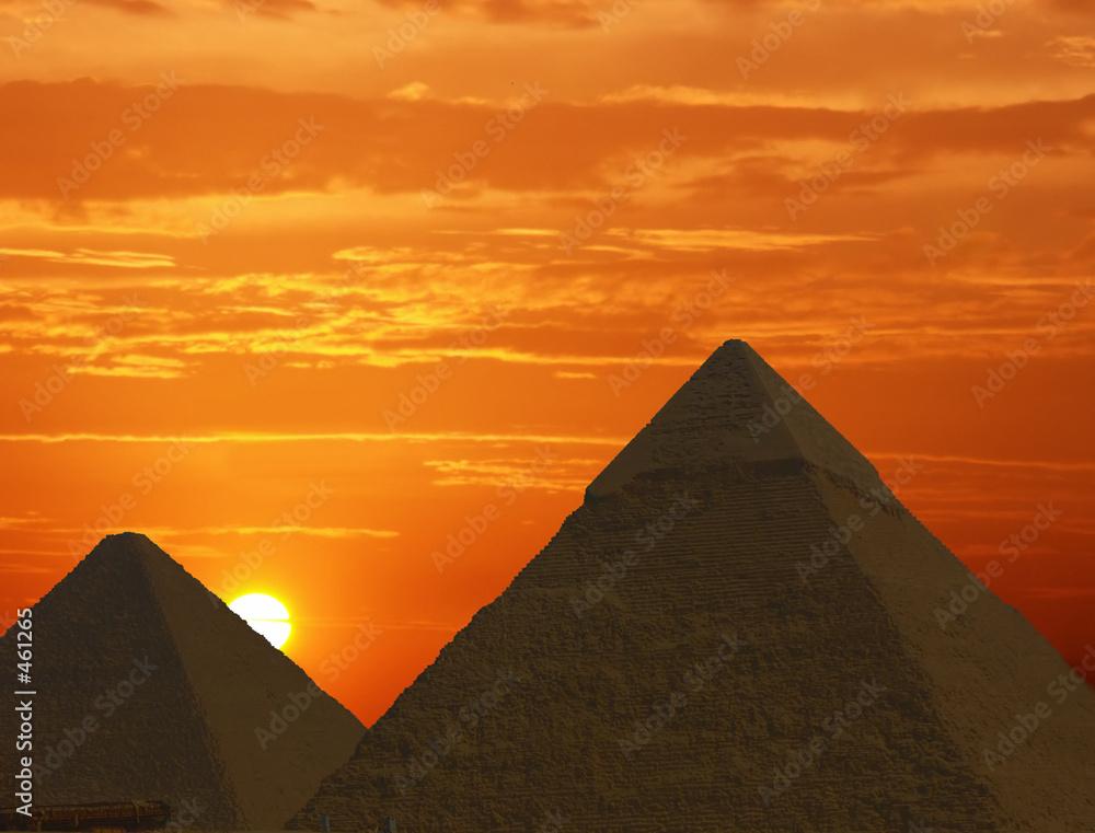 Leinwandbild Motiv - Windowseat : sunrise at the pyramids