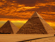 canvas print picture dramatic pyramids