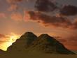 Leinwandbild Motiv sakkara pyramids
