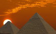 Leinwandbild Motiv sunrise pyramids