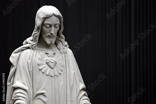 Fotografie, Obraz  jesus black and white