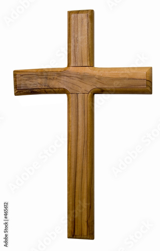 Fotografie, Obraz  wooden cross on a white background